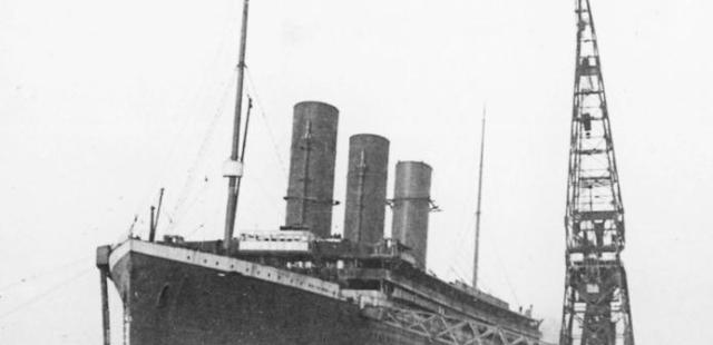 Titanic, with only three funnels