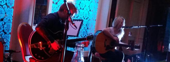Luan Parle and Clive Barnes playing at Hugh Lynch's Bar in Tullamore