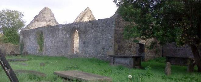 "Saint Brendans Church in Birr where Adamnan wrote ""The Law of the Innocents"""