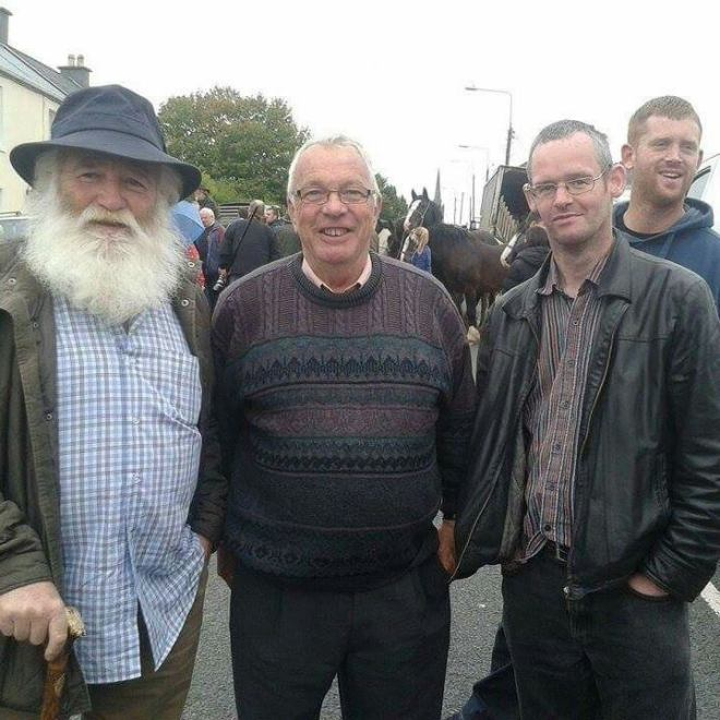 At the 2015 Banagher Horse Fair with Liam Pearl of Co. Clare, and Tallaghts Paddy Griffen