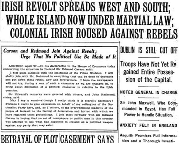 New York Times reports on the Easter Rising---1916-April-28