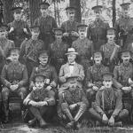 Ist Battalion Queens Own Surrey Rgt in Aldershot in August 1914 - John Dopping Boyd at back at extreme right