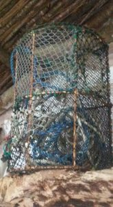 Lobster Pots in Kates Cottage in Claddagh