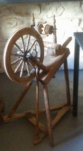 Spinning Wheel - the yarn spun on this was nothing to the yarns been spun at Moth and Butterfly in Kates Cottage in Claddagh