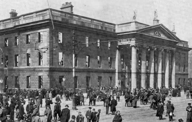 GPO in Dublin after 1916 Rising