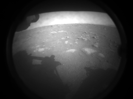 Mars image from the Perseverance Rover
