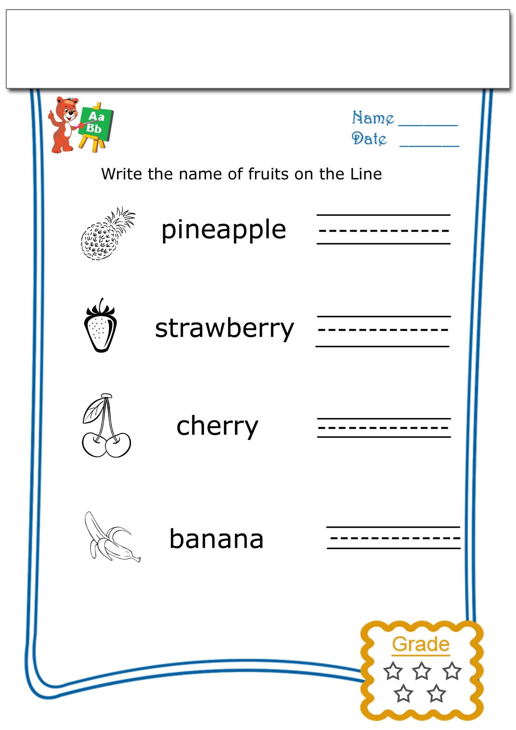 5th Grade Writing Practice Worksheets