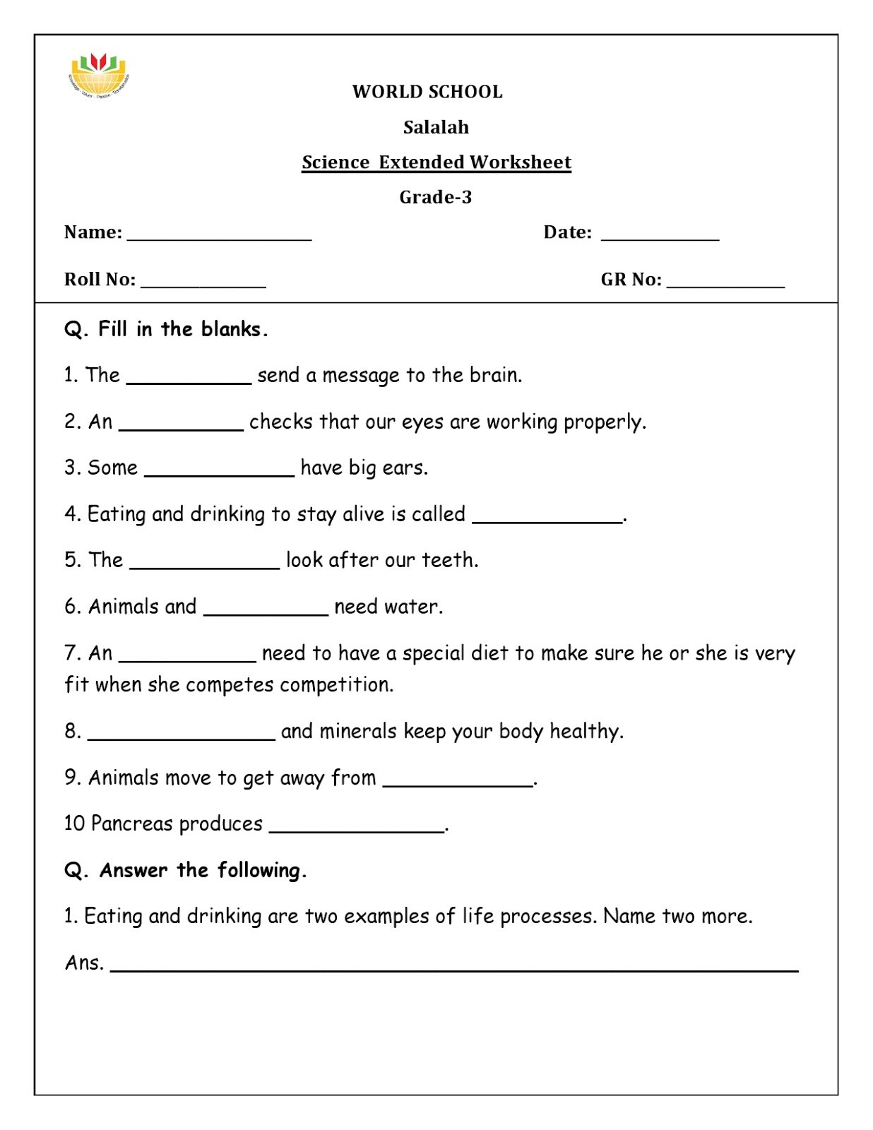 Message Writing For Class 5 Worksheet