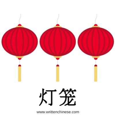 Chinese New Year Greetings 灯笼 Lanterns