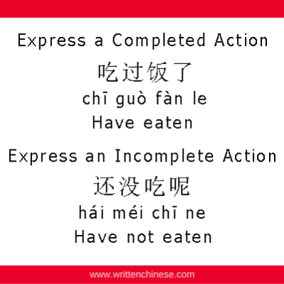 Chinese Particle 过 Completed Action