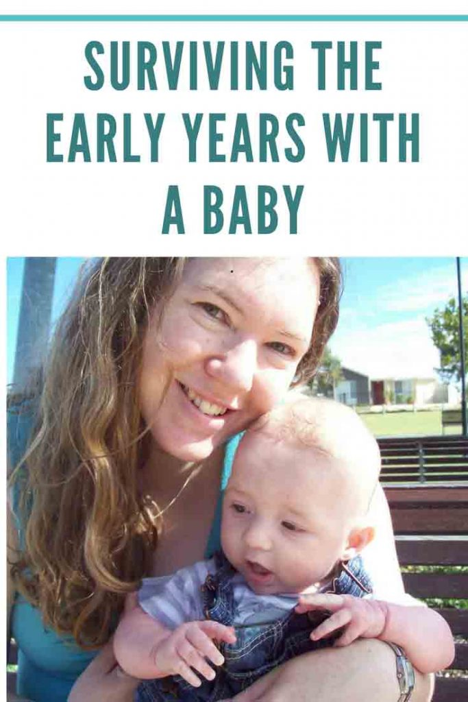 https://www.writteninwaikiki.com/surviving-early-years-baby/ mum mom and baby