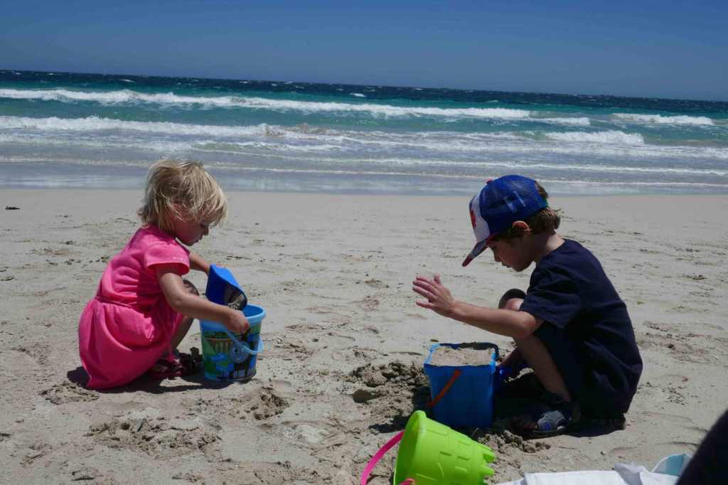 important lessons to help get you through life beach rockingham western australia child toddler kids playing at the beach