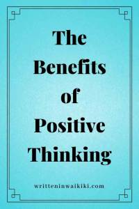 benefits of positive thinking pinterest blue background