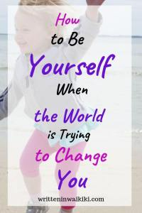 how to be yourself when the world is trying to change you pinterest girl jumping dancing at the beach