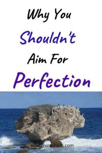 Why You Shouldn't Aim For Perfection pinterest rock in the ocean