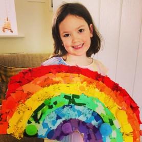 Rosie's NHS rainbow