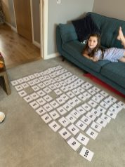 Lucie's maths work