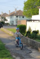 Arthur riding without stabilisers!