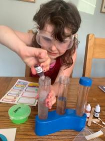 Isla's science experiment