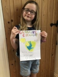 Faith's climate change poster