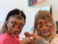 Ruby and Annabel are fearsome tigers!