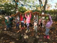 On the seventh day of Christmas, my #ForestSchool gave to me...seven garland-threading!