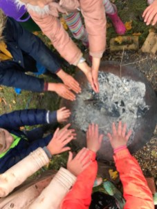 On the tenth day of Christmas, my #ForestSchool gave to me....ten hands a-warming!