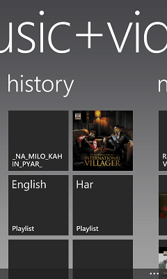 music history in wp8