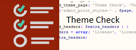 WordPress Theme check Issue