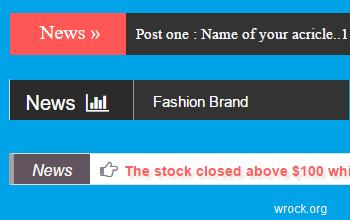 Create News Ticker Html