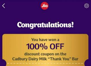 Jio Dairy Milk coupon