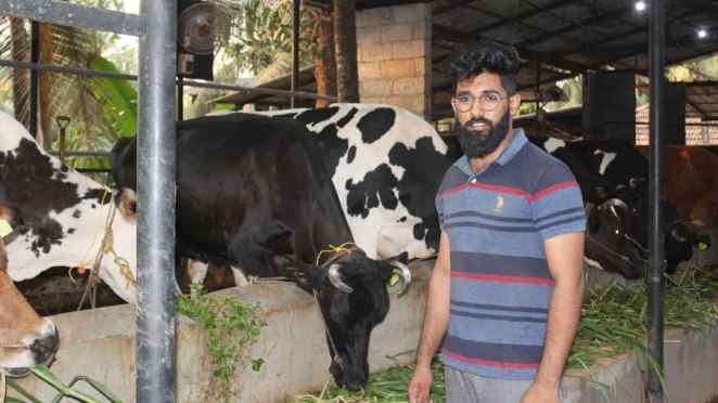 BTech student earns over Rs 1 lakh a month from his own dairy farm | BTech  student's successful Dairy farm in Malappuram| Kondotty jamsheer dairy  farm| PCM dairy farm