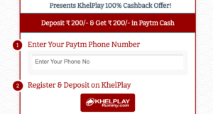 Khel play Rummy Offer