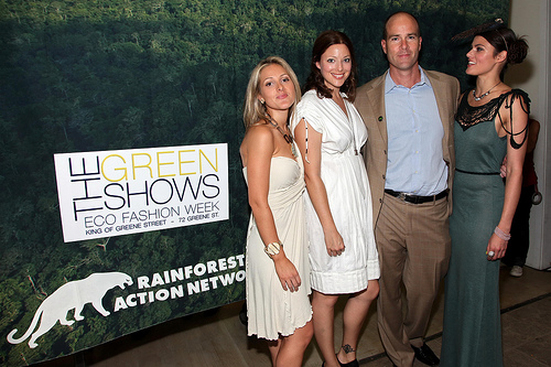 Olivia Zaleski, Kate Dillon, Michael Brune, Summer Rayne Oakes== RAINFOREST ACTION NETWORK Hosts the Opening Night Party for The GreenShows ECO Fashion Week== King of Greene Street, NYC== September 15, 2009== ©Patrick McMullan== Photo - WILL RAGOZZINO/PatrickMcMullan.com== ==