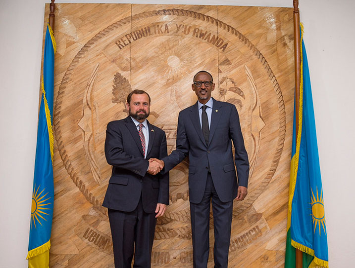 Tom P and Kagame