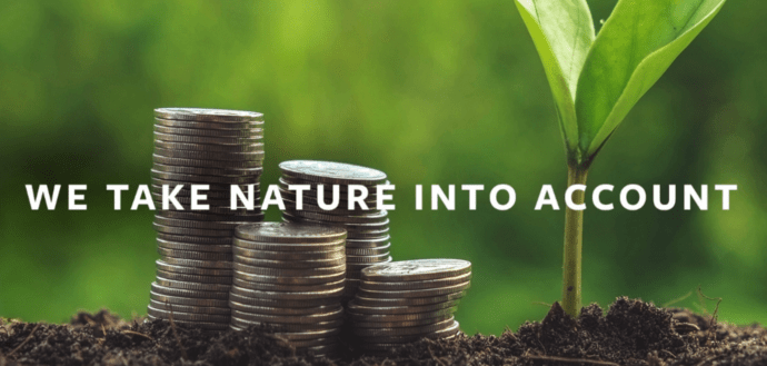 "Earth Economics branding : ""We Take Nature Into Account"" - ""What Is Your Planet Worth?"""