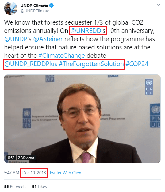 "December 10, 2018, Achim Steiner promotes the ""Forgotten Solutions"". Steiner will appear this week at the Social Good Summit (founded and/or financed by the UN, Purpose, Gates Foundation, etc.) with Greta Thunberg and Christiana Figueres. Steiner, UNDP Administrator is a former advisory board member of The Economics of Ecosystems and Biodiversity (TEEB). TEEB, initiated in 2008, and officially launched in 2012, hosted by UNEP and backed by the European Commission and countries including Germany, Norway, and the United Kingdom, has since been absorbed/rebranded into the Natural Capital Coalition. The Natural Capital Coalition is working with the world's most powerful corporations and institutions for the implementation of the financialization of nature.]"