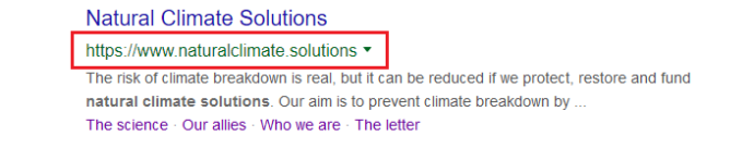 Natural Climate Solutions google search – which is which?