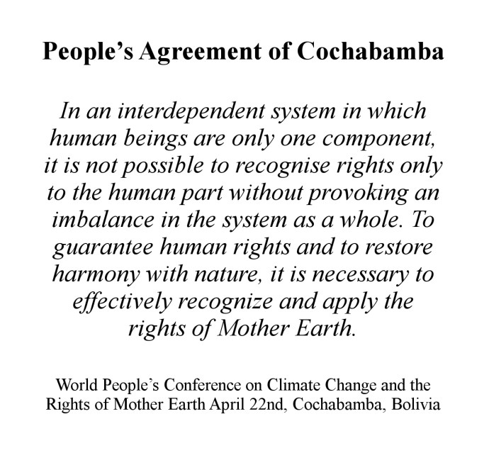 People's Agreement of Cochabamba