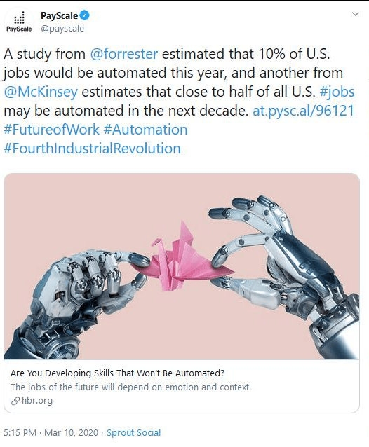 Close to 50% of all U.S. jobs may be automated this decade. Globally? Over 50% by 2055. A disposable working class.