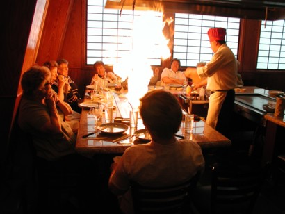 Fiery dinner at Shogun Bey Lea