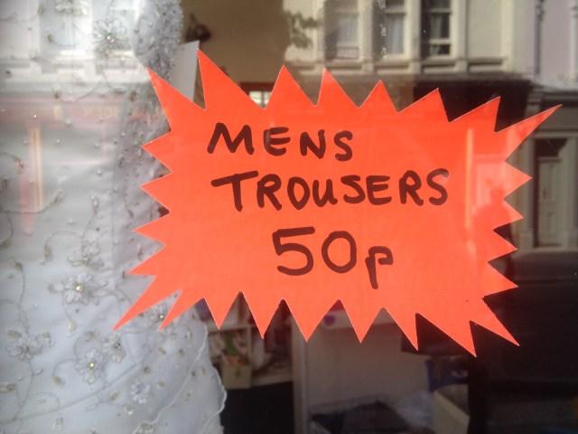 Men's Trousers 50p