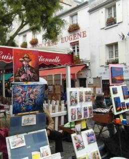 Typowy widok na Montmartre