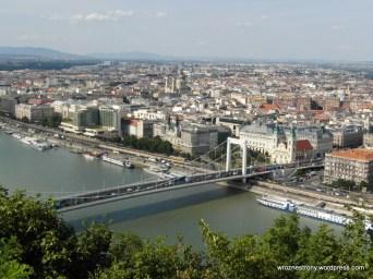 Widok z Góry Gellerta, Budapeszt, Węgry