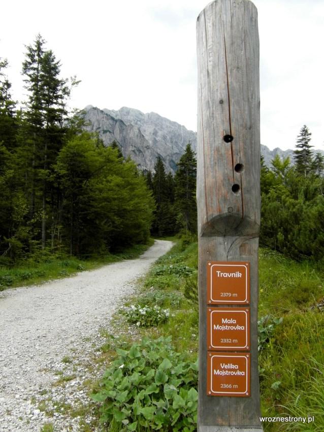 Wskaźnik szczytów w Alpach Julijskich