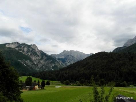 Widok na Alpy Julijskie z Rateče