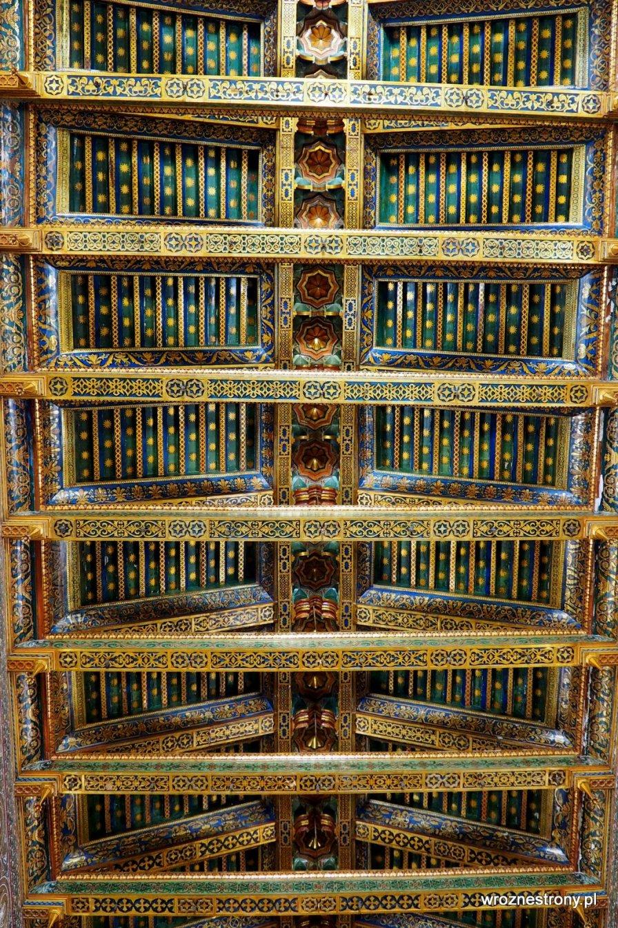 Drewniane sklepienie katedry w Monreale