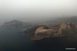 Widok na Sycylię z samolotu