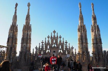 Na dachu katedry w Mediolanie