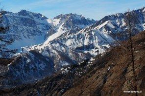 Widoki z Jafferau, Alpy Kotyjskie, luty 2020